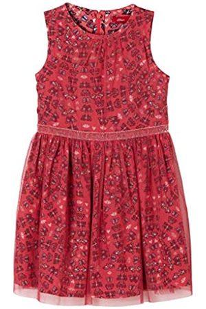 s.Oliver Mädchen Gemustertes Kleid mit Tüll 110.REG