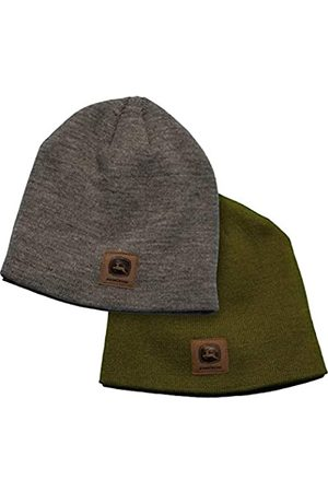 John Deere Package of 2 Stocking Caps Gray and Olive Green Beanies