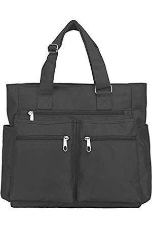 VOLGANIK ROCK Canvas Tote Bag Wasserdichte Nylon Multi Pocket Schultertaschen Laptop Arbeitstasche Lehrer Geldbörse und Handtaschen für Damen & Herren (Grau)