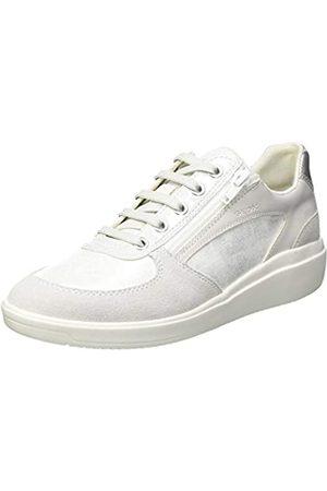 Geox Geox Womens D TAHINA A Sneaker, White/Off White