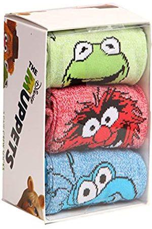 Bioworld Herren Socken & Strümpfe - Muppets Kermit Animal Gonzo Socken 3er Pack Box