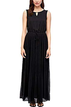 s.Oliver S.Oliver Damen lang Sommerkleid Kleid, 9999 Black