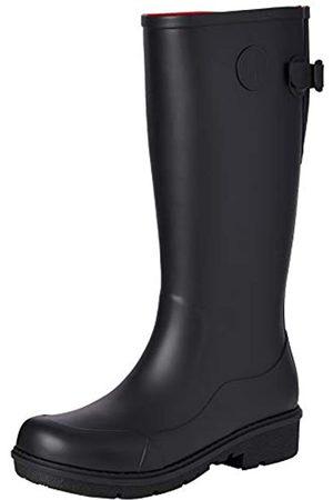 FitFlop Damen WONDERWELLY-Tall Gummistiefel, (All Black)
