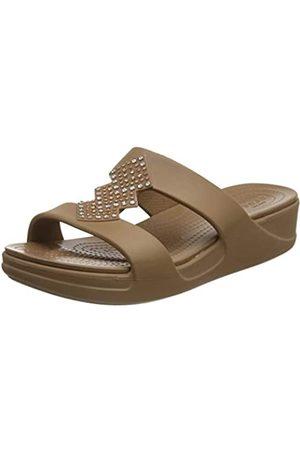 Crocs Damen Monterey Shimmer Slip On Wedge Keilsandale