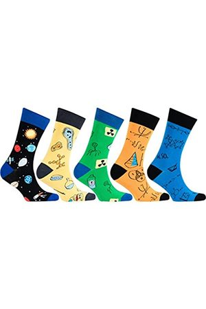 socks n socks Herren 5-Paar Luxus Spaß Cool Bunte Kleid Baumwollsocken Geschenkbox