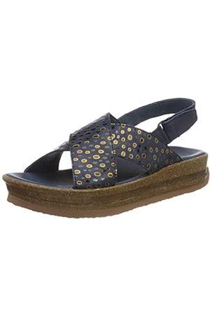 Think! Damen ZEGA_3-000206 nachhaltige Flache Sandale, 8000 Indigo/Kombi