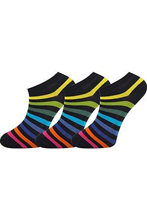 Mysocks Unisex Plain Trainer Socks 3 New Dark Rainbow 8-11