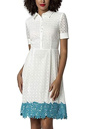 Apart APART Bezauberndes Damen Kleid, Sommerkleid, in Lochstickerei, gesäumt mit Spitzenbordüre in Türkis, EIN sommerlicher Eye-Catcher