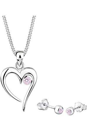 Elli Elli Schmuckset Damen Herz Symbol Liebe mit Zirkonia in 925 Sterling Silber