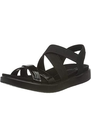 Ecco Damen Flowt Flat Sandal, (Black)