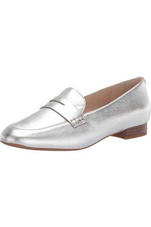 Cole Haan Damen The GO-to Pearson Loafer Slipper, Weiches silberfarbenes Metallic-Leder