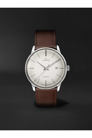 Junghans Herren Uhren - Meister Automatic 38mm Stainless Steel and Leather Watch, Ref. No. 027/4050.00
