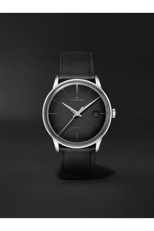 Junghans Herren Uhren - Meister Automatic 38mm Stainless Steel and Leather Watch, Ref. No. 027/4051.00