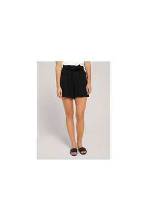 TOM TAILOR Damen Shorts - Weiche Relaxed Shorts, Damen, deep black, Größe: S