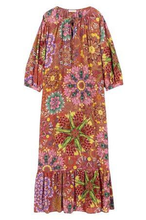 MOMONÍ Damen Lange Kleider - Kleid Minori aus bedrucktem Chiffon