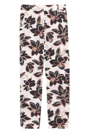 MOMONÍ Damen Hosen & Jeans - Hose Avena aus bedrucktem Crêpe de Chine