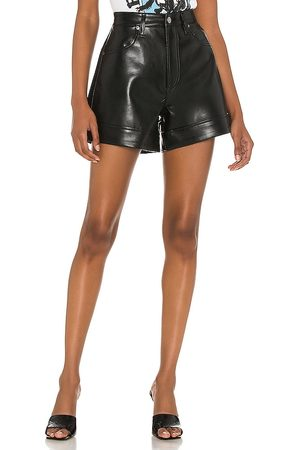 AGOLDE Recycled Leather Angled Hem Short in . Size 24, 25, 26, 27, 28, 29, 30, 31, 32, 33, 34.