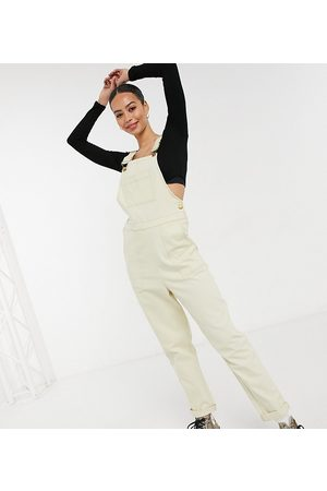 ASOS ASOS DESIGN Tall – Latzhose aus Twill in Creme