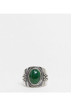 Reclaimed Vintage – Inspired – Silberfarbener Ring mit Stein