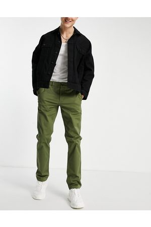 New Look – Schmale Chinohose in Khaki