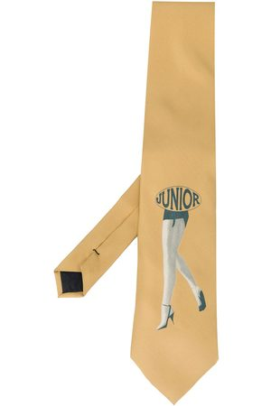 "Jean Paul Gaultier 1980s Krawatte mit ""Junior""-Print - Nude"