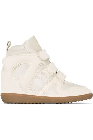 Isabel Marant Buckee Wedge-Sneakers - Nude
