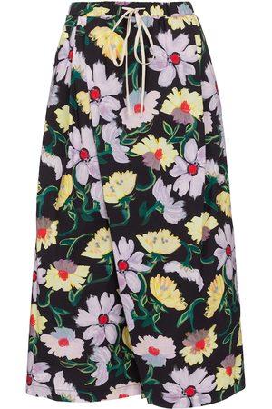 Marni Damen Weite Hosen - Culottes aus Baumwolle