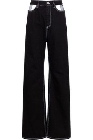 Maison Margiela Damen High Waisted - High-Rise Jeans mit weitem Bein