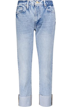 Frame High-Rise Straight Jeans Le Piper
