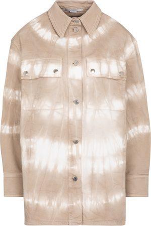 Stella McCartney Damen Longsleeves - Bedruckte Jacke aus Baumwolle