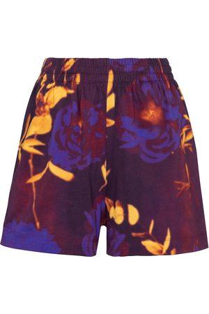 DRIES VAN NOTEN Damen Shorts - Bedruckte Shorts aus Baumwoll-Jersey