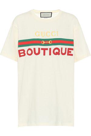 Gucci Bedrucktes T-Shirt aus Baumwolle