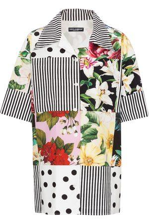Dolce & Gabbana Damen Blusen - Bedrucktes Hemd aus Baumwolle