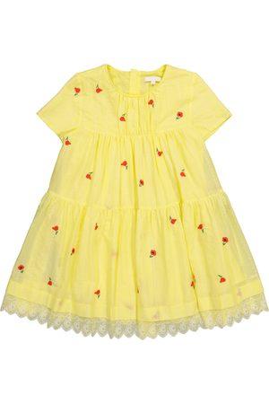 Chloé Mädchen Sommerkleider - Besticktes Kleid aus Baumwolle