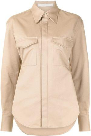 DION LEE Damen Blusen - Utility-Hemd mit Gürtel