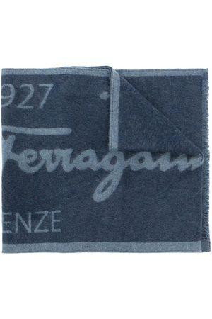 Salvatore Ferragamo Zweifarbiger Schal mit Logo
