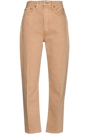 RE/DONE Stove Pipe Jeans - Nude