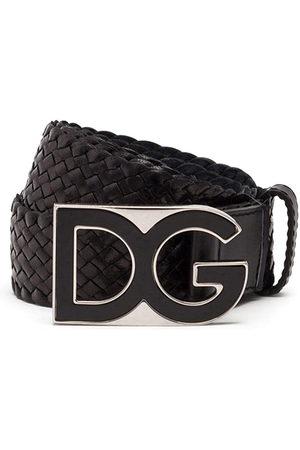 Dolce & Gabbana Gewebter Gürtel mit DG-Schnalle