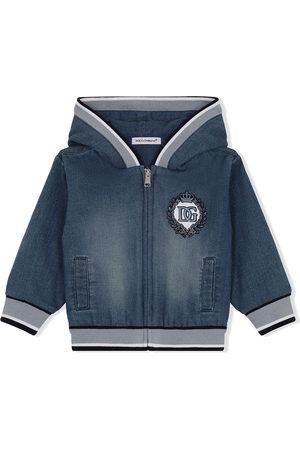 Dolce & Gabbana Jeans-Hoodie mit Logo-Stickerei