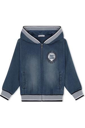 Dolce & Gabbana Jungen Jeansjacken - Jacke mit aufgesticktem Wappen