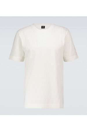 Fendi T-Shirt FF aus Baumwoll-Piqué