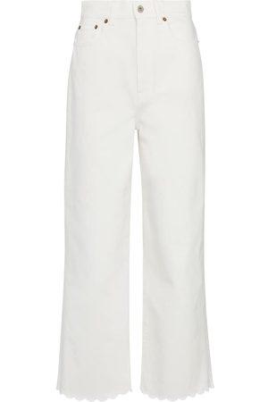 Miu Miu High-Rise Jeans mit weitem Bein