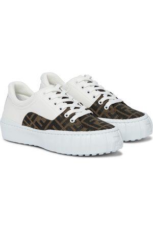Fendi Sneakers Force mit Leder