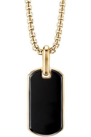 David Yurman Herren Halsketten - 18kt Goldhalskette mit Streamline Anhänger