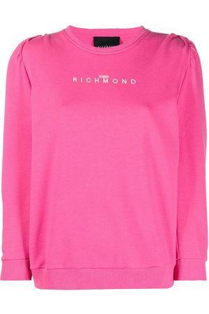 John Richmond Damen Sweatshirts - Sweatshirt mit Puffärmeln