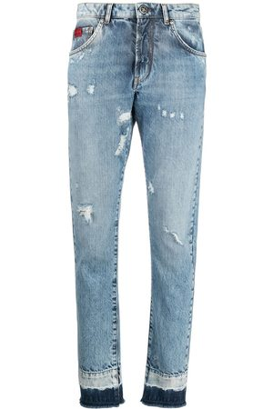 John Richmond Damen Skinny - Skinny-Jeans im Distressed-Look
