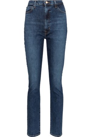 J Brand High-Rise Straight Jeans 1212 Runway