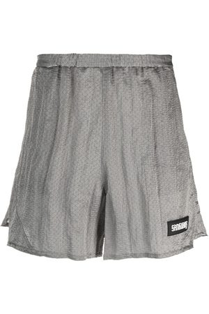 SANKUANZ Kurze Hosen - Geometric-patterned track shorts