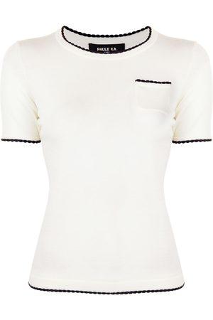 Paule Ka T-Shirt mit rundem Ausschnitt