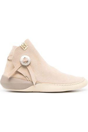VISVIM Herren Sneakers - Gila Moc Mid II-Folk Sneakers - Nude